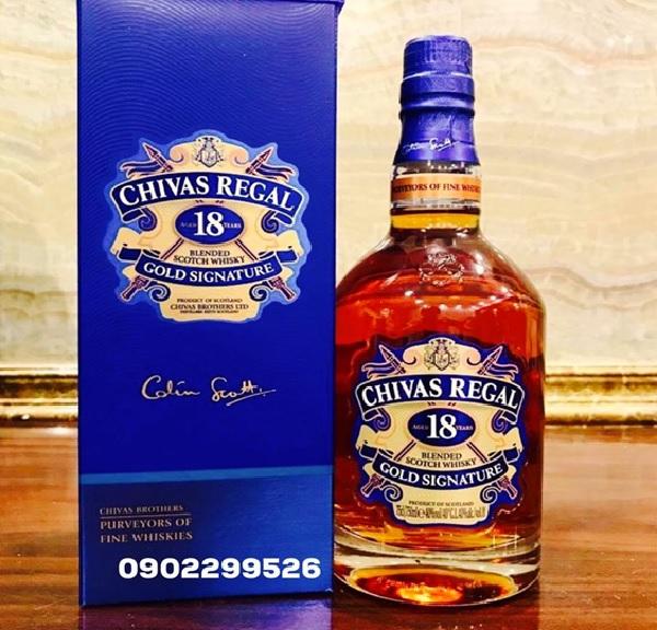 Giá rượu Chivas 18 năm nhập khẩu chính hãng mới nhất